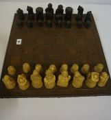 Resin Chess Set, with board