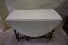 Oak Gateleg Table, with painted top