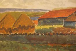 "John McNairn (Scottish 1911-2009) ""Scottish Borders Scene"" Watercolour, signed lower right, 36cm x"
