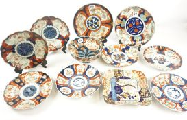 Collection of Japanese Imari Pottery, circa late 19th / early 20th century, to include plates,
