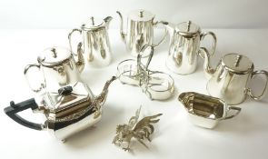 Quantity of Silver Plated Wares, to include hotel pots, three piece tea set etc