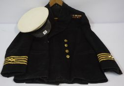 Navy Officers Jacket, with hat, (2)