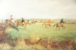 """After Ruth Gibbons """"Not a Ploughed Field in Sight"""" Signed Print, signed in pencil to lower right,"""