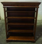 Mahogany Open Display Cabinet, 120cm high, 94cm wide, 35cm deep