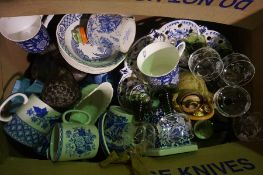 Four Boxes of Pottery Dinner Wares etc