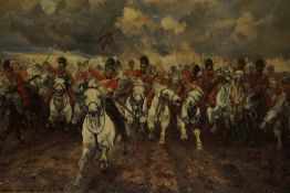 Group of Prints, to include sporting and military themed prints, (4)