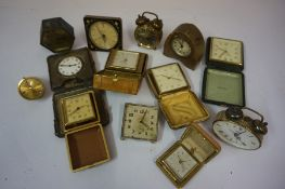 Mixed Lot of Travel and Desk Clocks