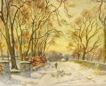 "T.J Bertram (Scottish) ""Early Autumn the Tollhouse Inerleithen"" ""Wintering Sheep Traquair"" West Bold"