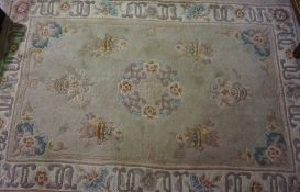 Three Similar Chinese Style Wool Rugs, (3)