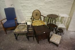 Mixed Lot of Occasional Chairs, Tables and Stools, (12)