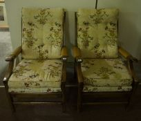 Pair of Fireside Armchairs, (2)
