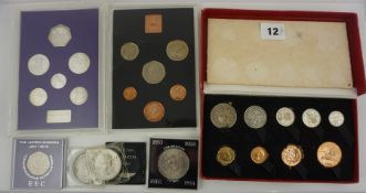 Small Lot of Proof Coin Sets, to include examples by Royal Mint, and a set struck by Pobjoy Mint,