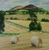"Marie C Keay (Scottish) ""Classic Backhand"" ""Eildon View near Bowden"" Oil on Canvas, signed to one"