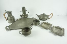 Quantity of Pewter Wares, to include examples by Roundhead, (8)