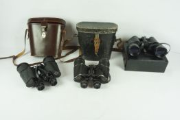 Pair of 12 x 50 Field Binoculars by Yashica, with case, also with a pair of 7 x 50 field