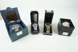 Four Mens Quartz Wristwatches, Comprising of Sekonda, Lorus, Ben Sherman and Vialli, all with boxes,