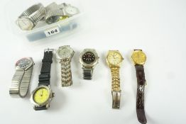 Quantity of Mens Quartz Wristwatches, to include examples by Ronson Sport, Reflex, Sekonda, Scene