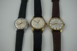 Three Vintage Wristwatches, to include a Swiss made wristwatch by Paul Jobin, and an automatic