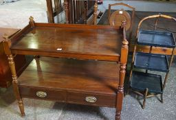 Mixed Lot of Furniture, to include a mahogany buffet style table, blanket box, nest of tables,