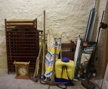 Large Lot of Sundries, to include tools, cot, work bench, etc