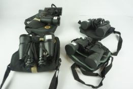 Four Pairs of Binoculars, Comprising of two pairs of 16 x 50 by Miranda, pair of 10 x 50 by Bresser,