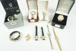 Quantity of Ladies Quartz Wristwatches, to include examples by Vialli, Pulsar etc, also with four