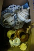 Four Boxes of Sundry China and Glass