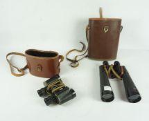 Pair of WWII Military Bino Prism No 2 Field Binoculars by Taylor-Hobson, MK III, no 296967, having