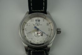 Ball Trainmaster Cleveland Express Power Reserve Gents Wristwatch, Swiss made, Having moon phase,