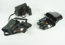 Three Pairs of Binoculars, Comprising of pair of 8 x 30 by Halina, pair of 8 x 30 by Hanimex, and