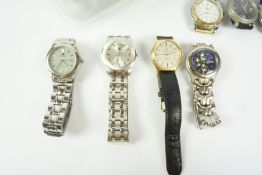 Quantity of Mens Quartz Wristwatches, to include examples by Jules Jurgenson, King Quartz, Guess,