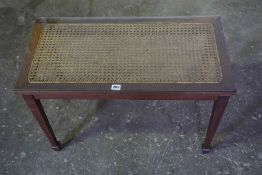 Mahogany Bergere Occasional Table, 52cm high, 76cm wide, 39cm deep