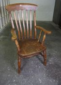 Vintage Stained Wood Smokers Type Armchair, 110cm high