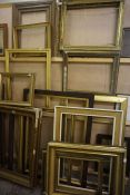 Large Quantity of Antique and Later Picture Frames, to include gilt frames