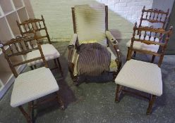 Set of Four Mahogany Parlour Chairs, 88cm high, also with a Victorian mahogany framed parlour