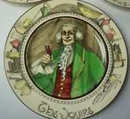 Eight Royal Doulton Series Ware Plates, To include The Hunting Man, The Falconer, The Squire, The
