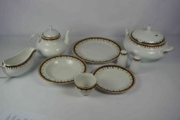 Pegasus China Dinner and Tea Service, To include tureen, tea pot, cups, dinner plates etc,