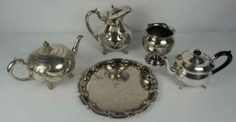 Quantity of Silver Plated Wares, To include tea wares, tray etc, approximately 20 pieces