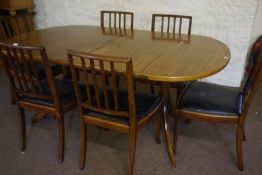 Mahogany Extending Dining Table, 75cm high, 182cm long, 100cm wide, also with a set of six bar