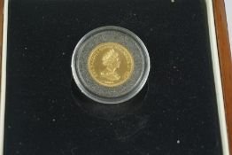 Tristan Da Cunha Trafalgar 1/3 Gold Guinea, Dated 2008, 2.9 grams, in capsule, with box and