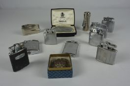 Assorted Vintage Lighters by Ronson, To include an example cased in Siam silver, (15)