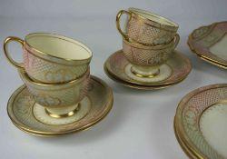 Radfords Twelve Piece China Tea Set by Fenton, 40 pieces in total