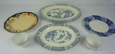 Two Boxes of Assorted China, To include tea wares, serving platters etc, also with a Reproduction