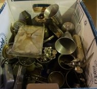 Quantity of Silver Plated Wares, To include cigarette boxes, tea wares, loose cutlery etc,