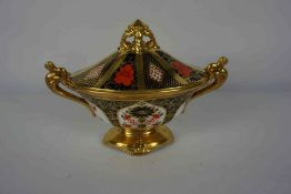 Mixed Lot of Royal Crown Derby Imari Pattern Porcelain, To include a Campagna style sugar bowl