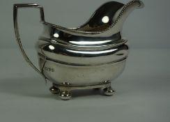 Silver Cream Jug, Hallmarks for Chester, 7.315 oz, 10cm high