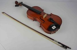 Violin by Primavera, 60cm long, with bow, in fitted case