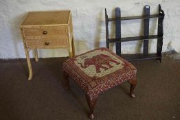 Woven Effect Bedside Table, Also with a stool and hanging wall rack, (3)