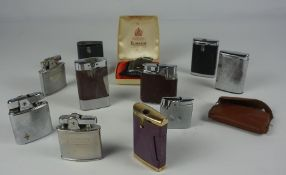 "Assorted Vintage Lighters by Ronson, (15) In a Vintage ""Squirrel"" Confections tin"