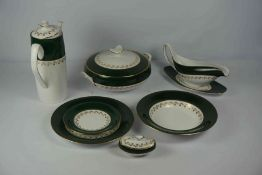 Spode Harrogate Style China Dinner and Coffee Service, To include tureens, serving platters, sauce